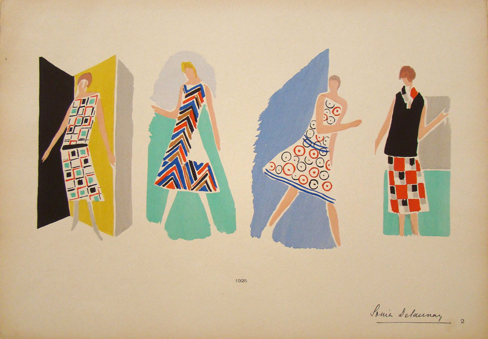 Croquis de costumes, Sonia Delaunay